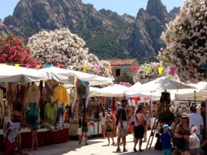 Exploring the market whilst at Casa Pantaleo the Luxury Self Catering Villa Sardinia